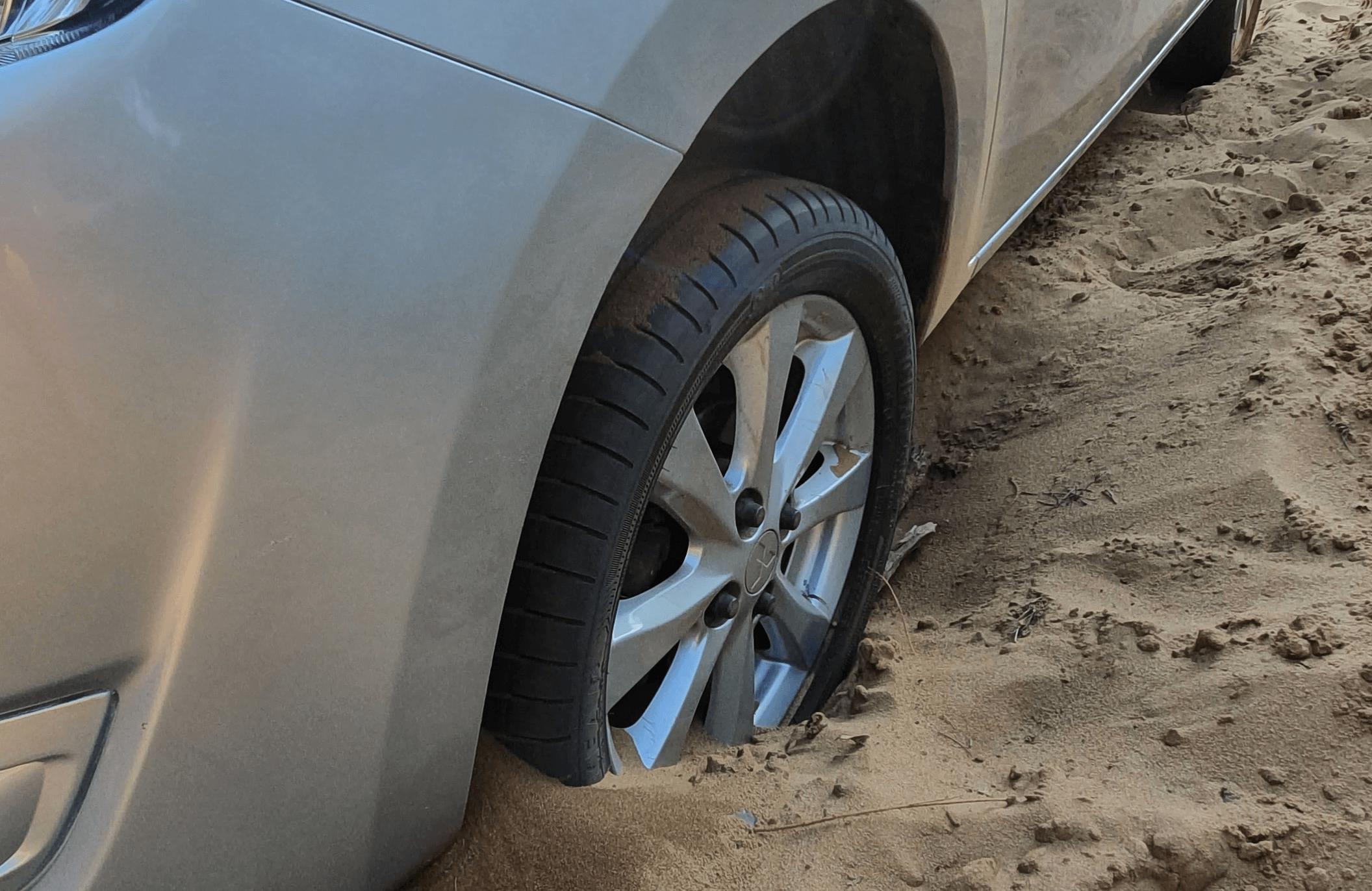 Vehicle Stuck in sand