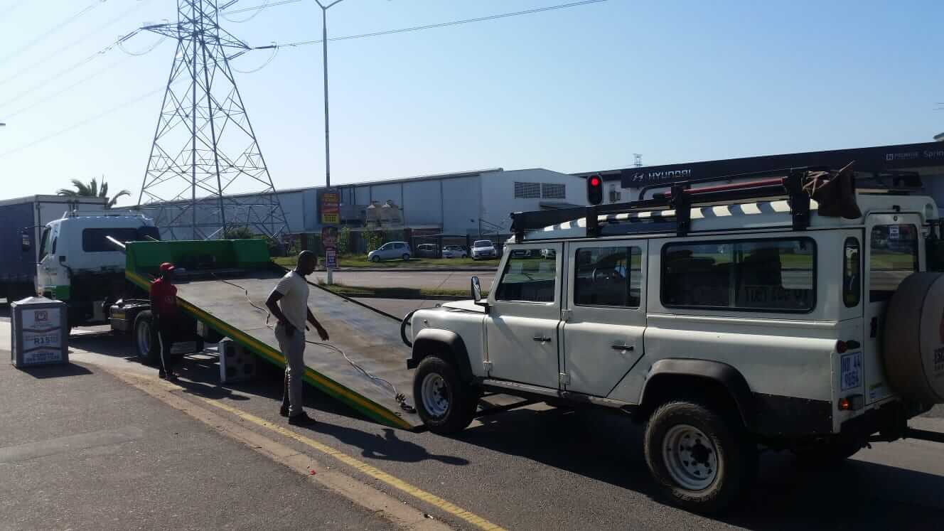 Landrover on Flatbed