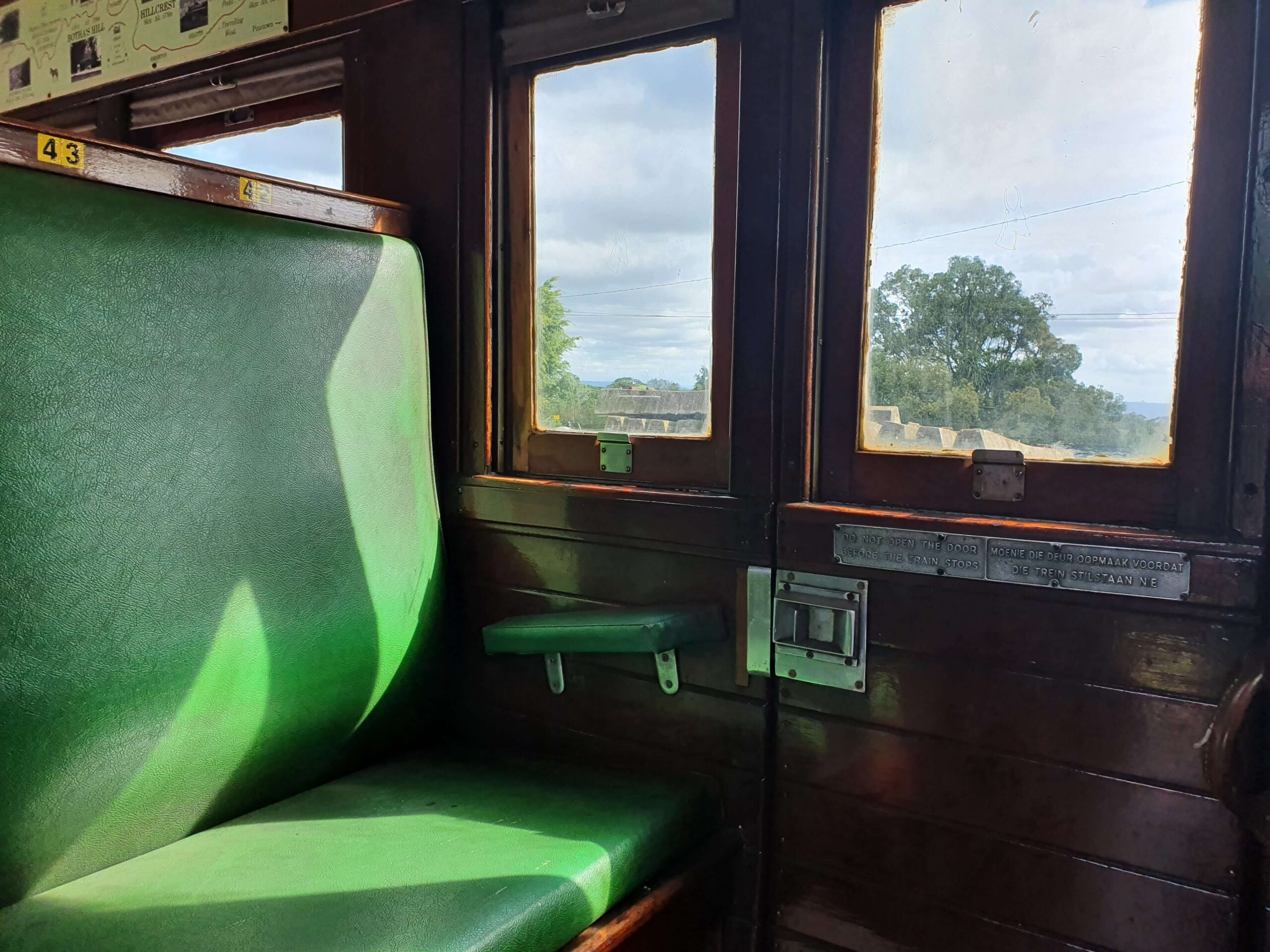 Window in Umgeni Steam Train